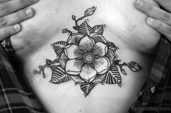 Mandala Tattoo On Stomach