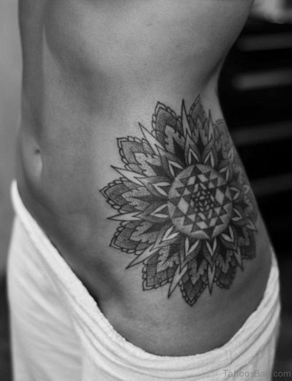 Mandala Tattoo On Waist