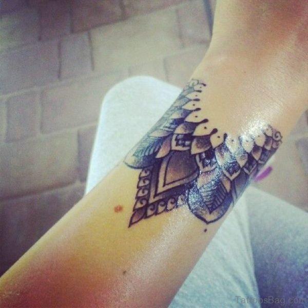 Mandala Tattoo On Wrist