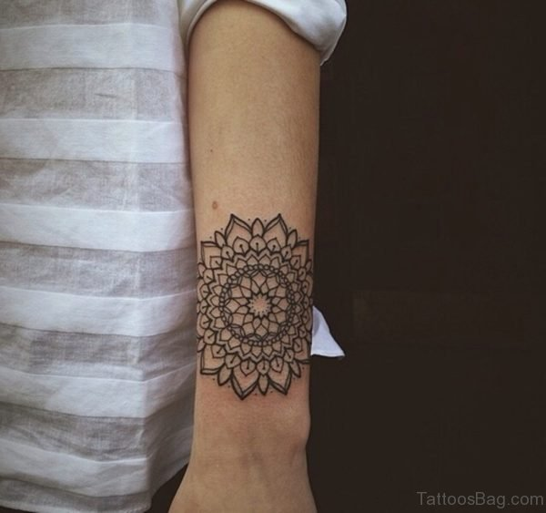 Mandala Tattoo On Wrist