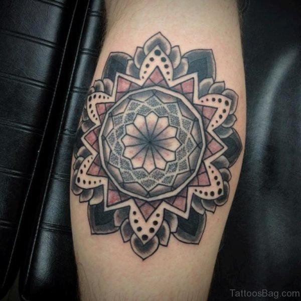 Mandala Tattoo On leg