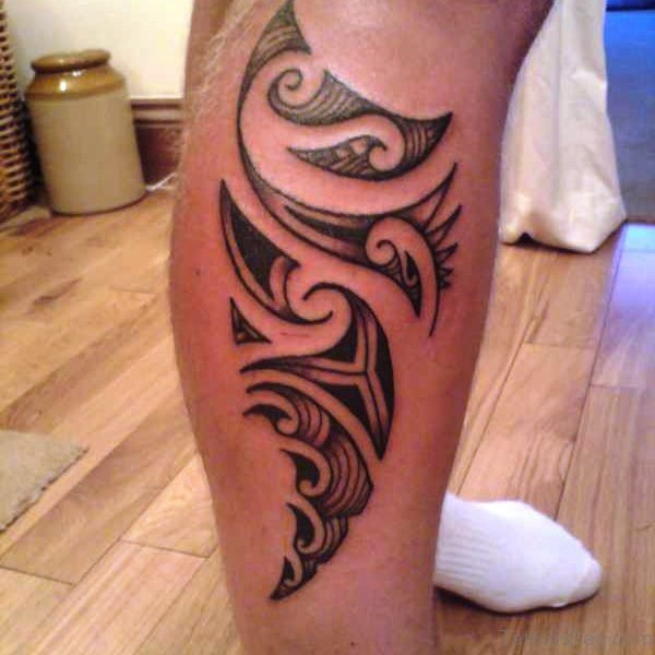 Maori Calf Tattoo Design