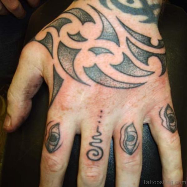 Maori Tribal Tattoo For Your Hand