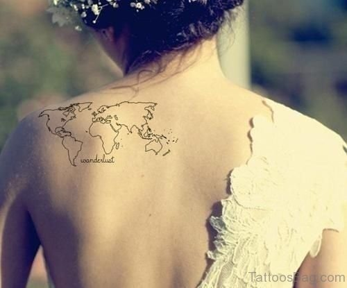 Map Tattoo On Back