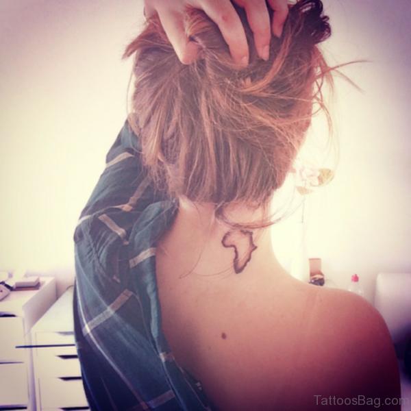 Map Tattoo On Nape