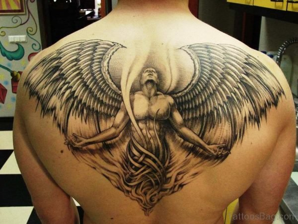 Marvelous Angel Tattoo On Back