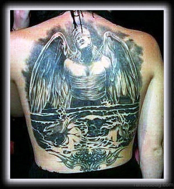 Marvelous Archangel Tattoo On Back