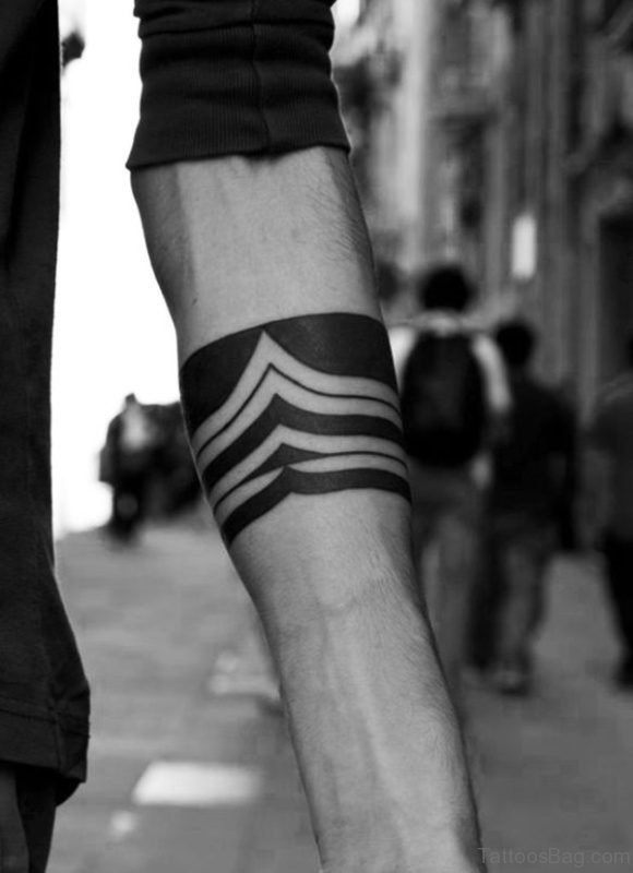 Marvelous Band Tattoo On Arm