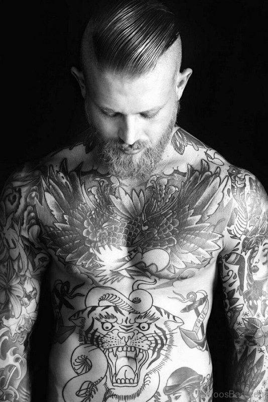Marvelous Black Tattoo On Chest