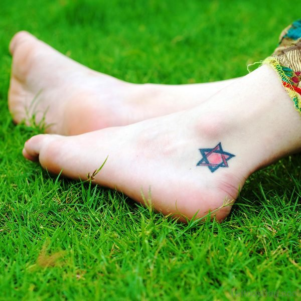 Marvelous Star Ankle Tattoo