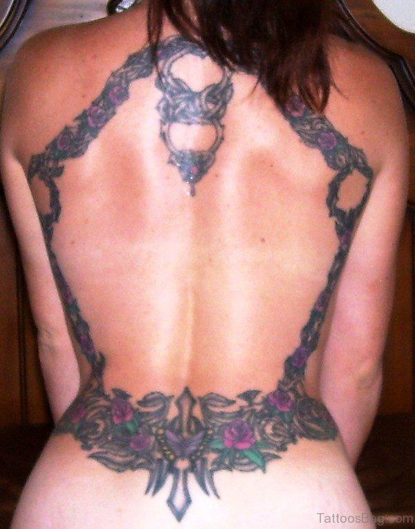 Marvelous Vine Tattoo On Back