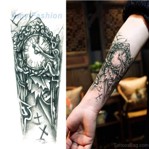 Mechanical Tattoo On Arm