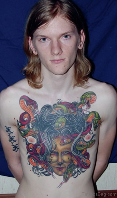 Medusa Chest Tattoo Image
