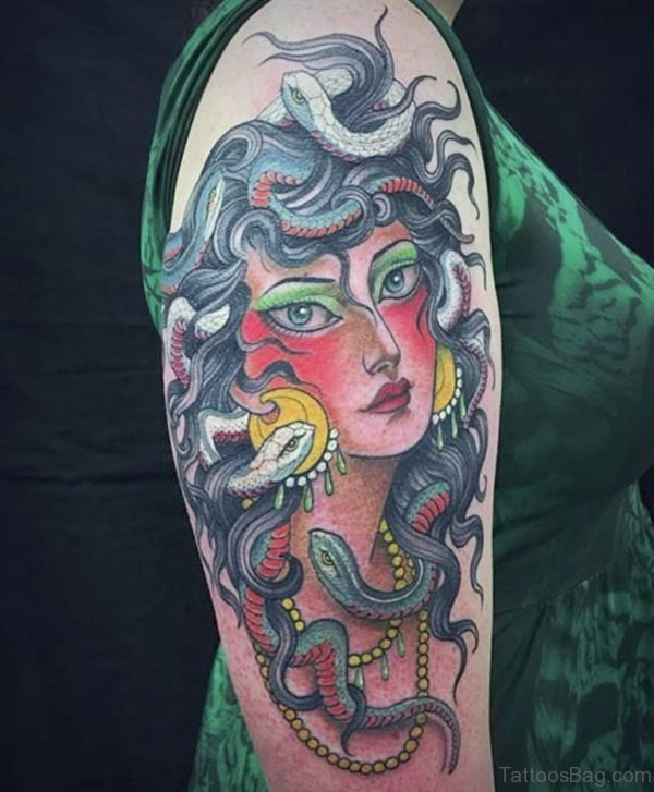 Medusa Shoulder Tattoo