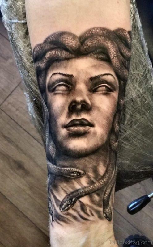 Medusa Tattoo Design On Wrist
