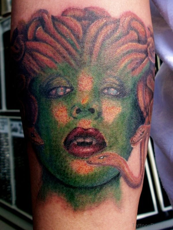 Medusa Tattoo On Arm