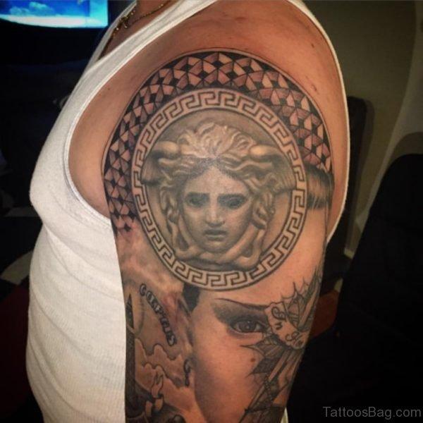Medusa Tattoo On Shoulder