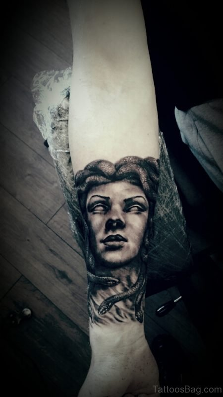 Medusa Tattoo On Wrist