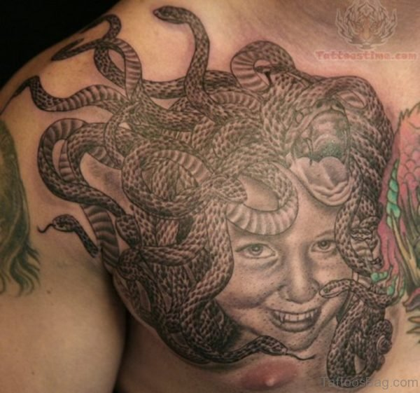Medusa Tattoos For Chest