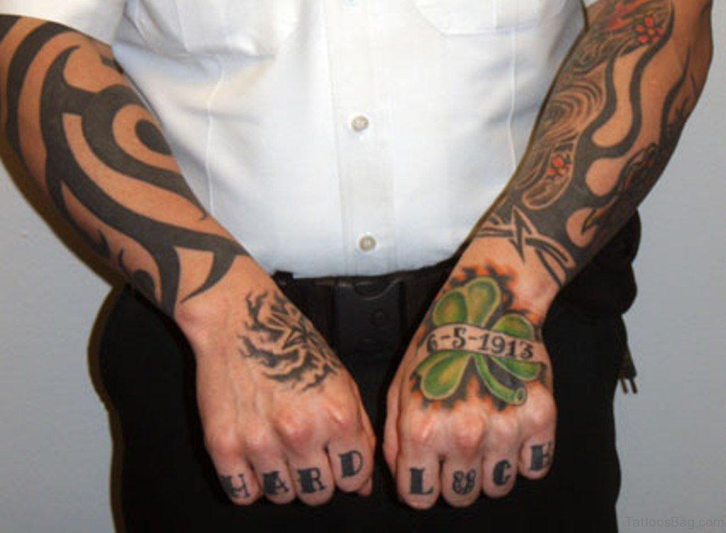 30 elegant leaf tattoos for hand. Black Bedroom Furniture Sets. Home Design Ideas
