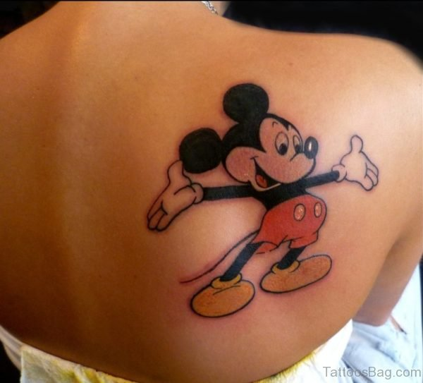 Mickey Mouse tattoo On Back
