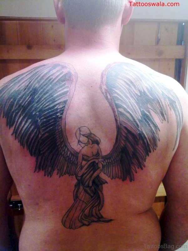 Mind Blowing Angel Tattoo On Back