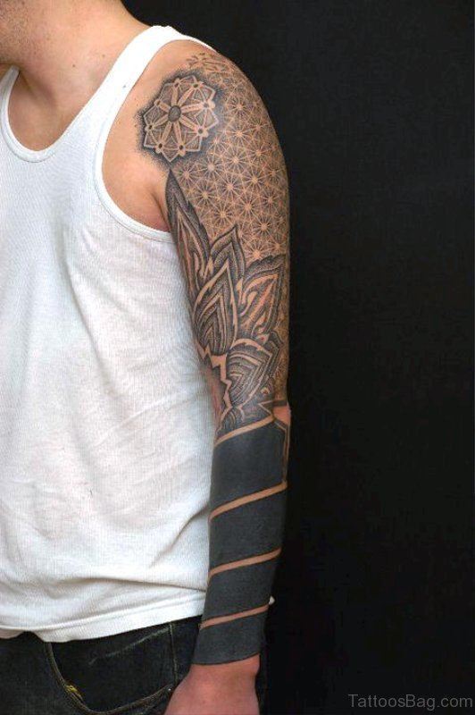 Mind Blowing Black Tattoo On Arm