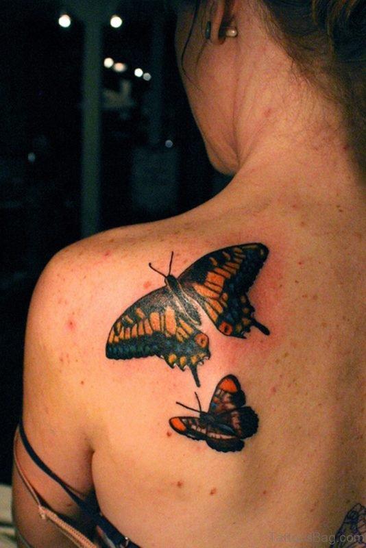 Mind Blowing Butetrfly Tattoo