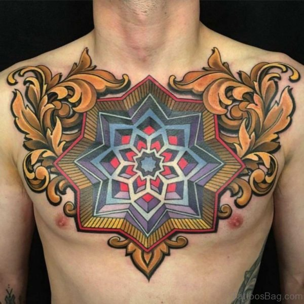 Mind Blowing Chest Tattoo