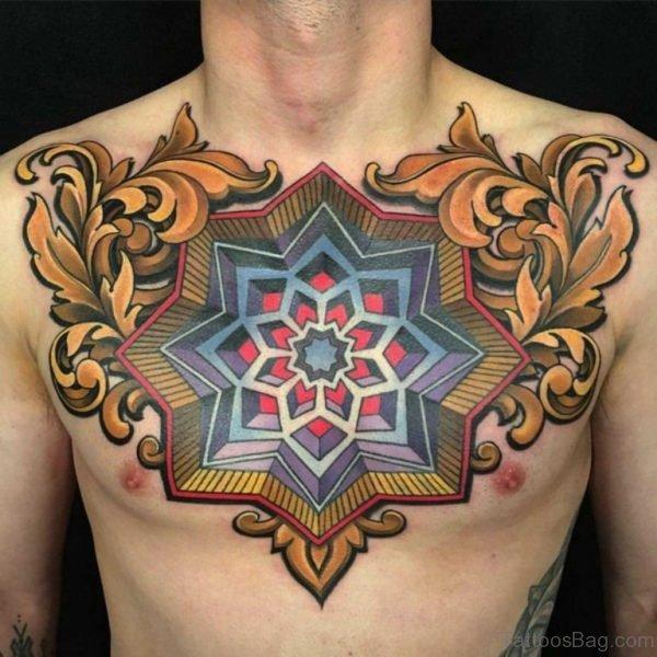 Mind Blowing Chest Tattoo