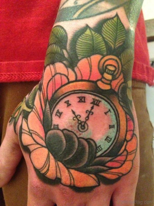 Mind Blowing Clock Tattoo Design