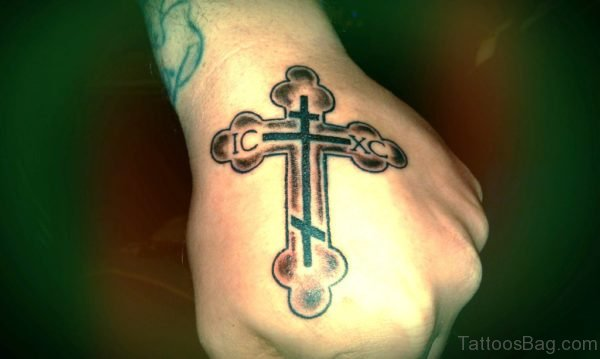 Mind Blowing Cross Tattoo On Hand