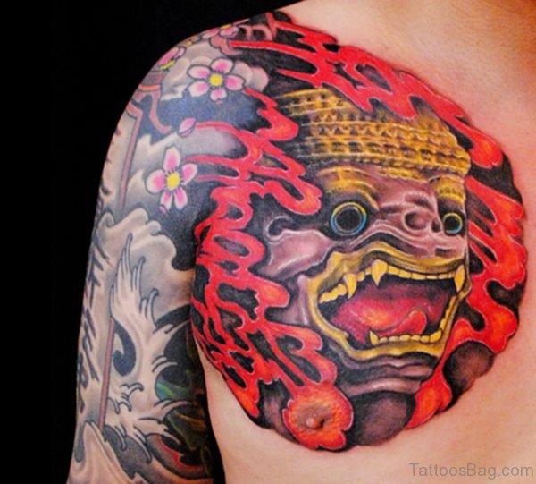 Mind Blowing Mask Tattoo