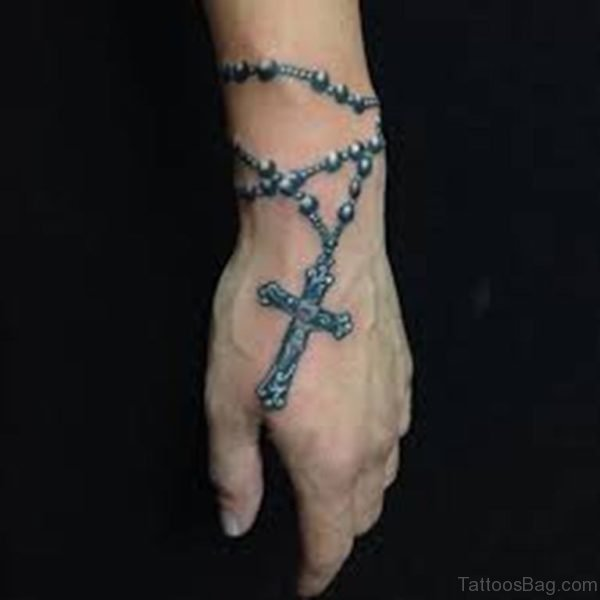 Mind Blowing Rosary Tattoo