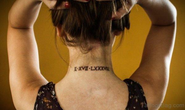 Mind Blowing Nape Tattoo