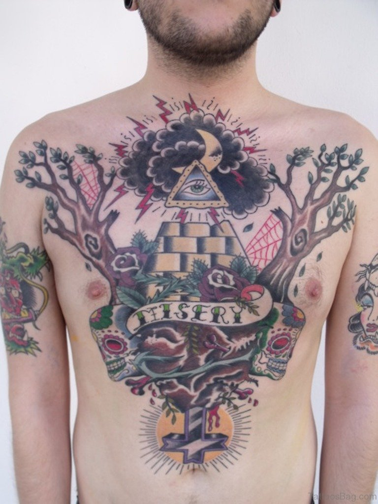 64 Mind Blowing Tree Tattoos For Chest,Baja Designs Squadron Sport Tacoma