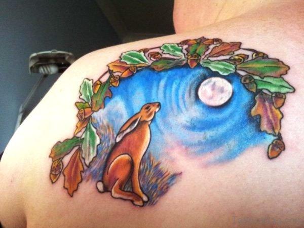 Moon Tattoo On Shoulder