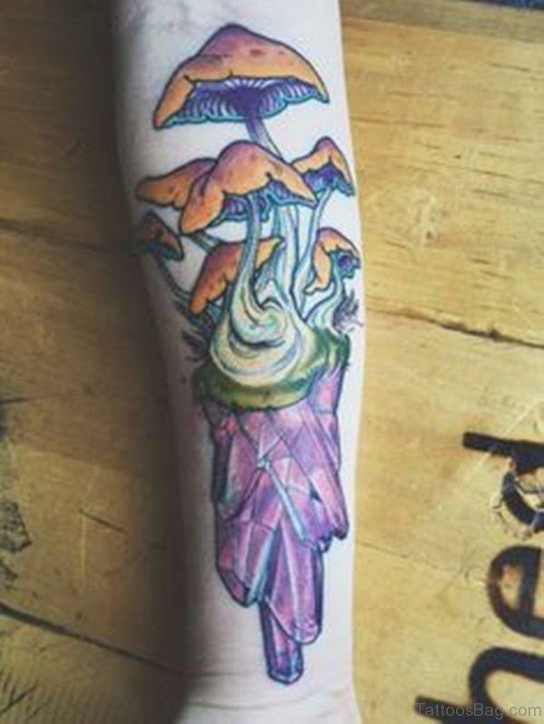 Mushroom Tattoo On Wrist