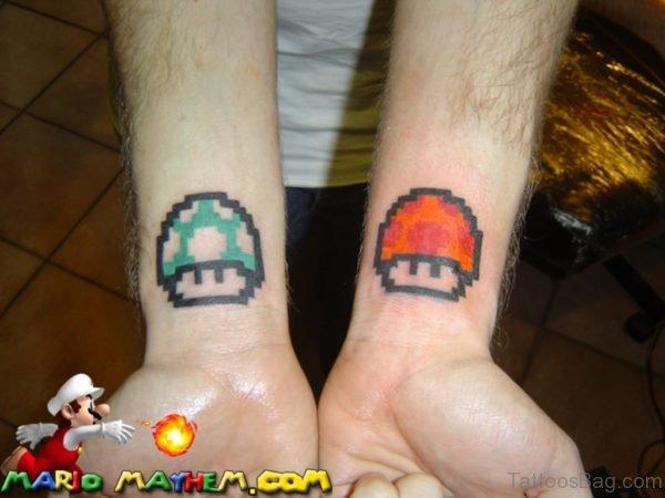Mushroom Tattoo On Wrists