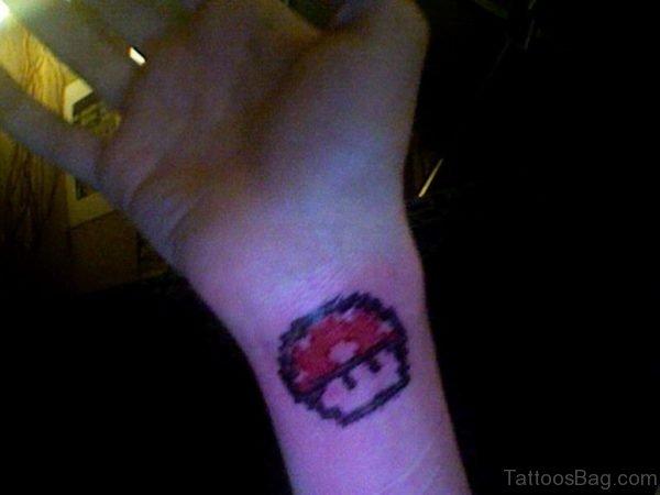 Mushroom Tattoo design On Wrist