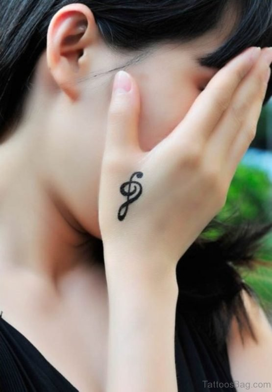 Music Note Tattoo On Hand