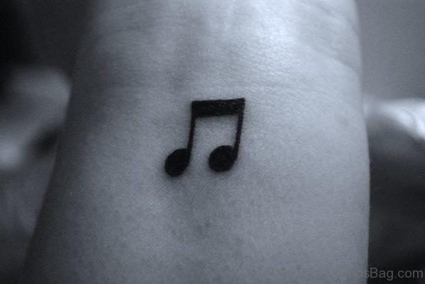 Music Note Tattoo On Wrist