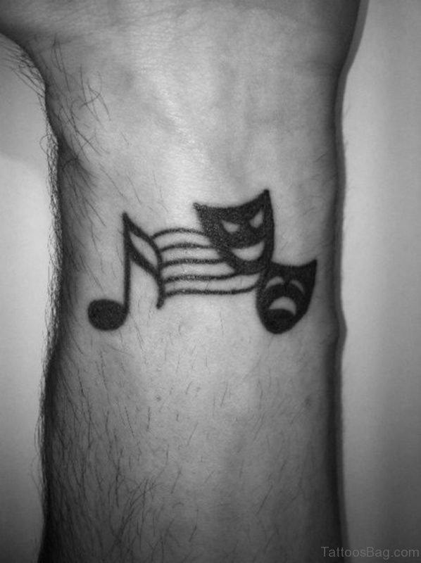 Music Wrist Tattoo
