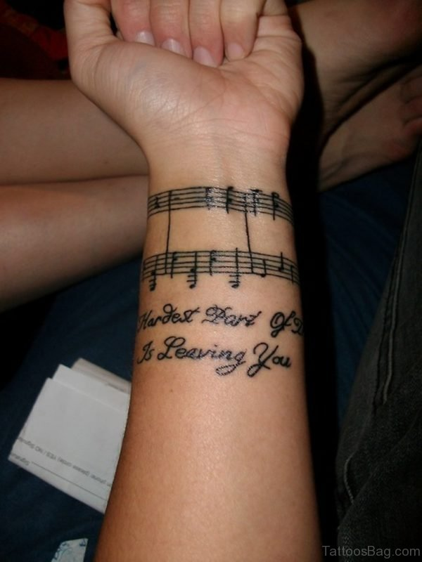 Musicals Notes Tattoo On Wrist