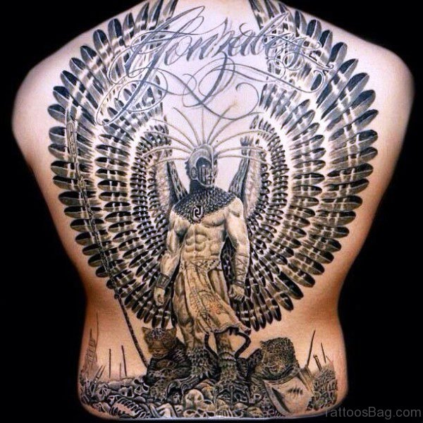 Mythical Tattoo On Back