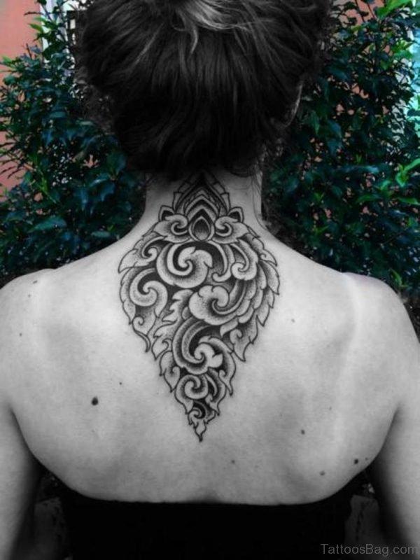 Nape Geometric Tattoo