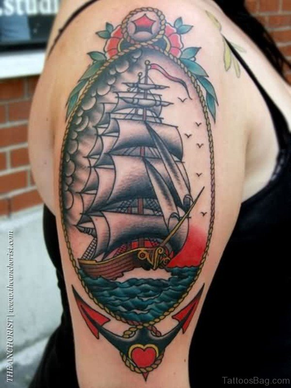 Nautical Colored Ship
