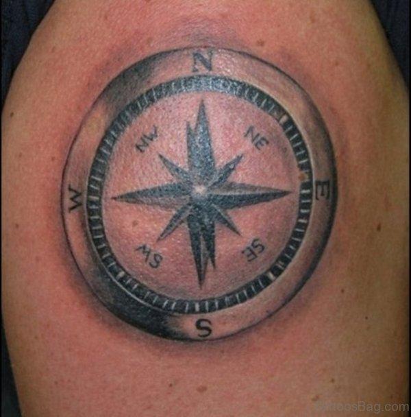 61 amazing nautical shoulder tattoos for Nautical compass tattoo