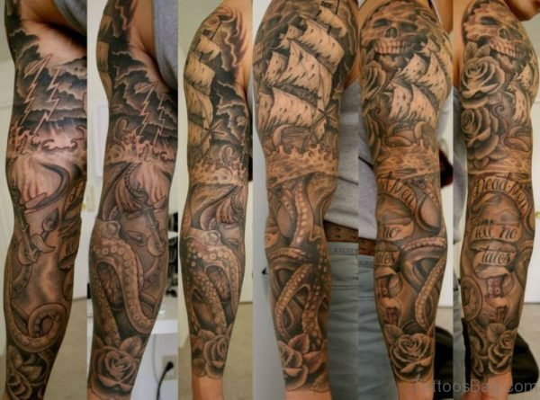 Nautical Shoulder Tattoo st4146