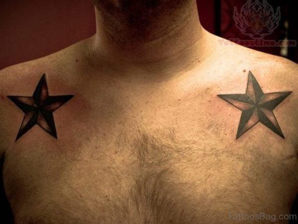 Nautical Star Shoulder Tattoo Design